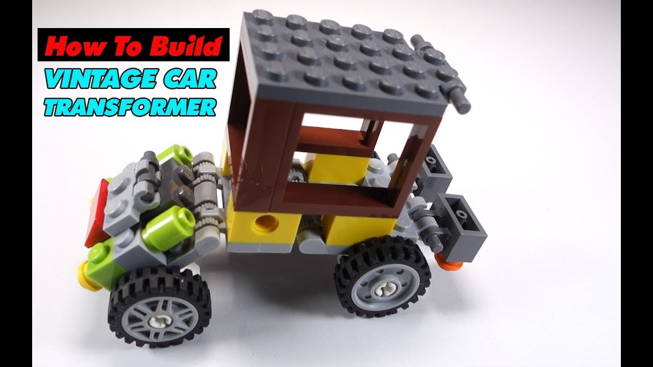 How to Build LEGO Transformer Vintage Classic Car | Building Instructions  Lego Classic