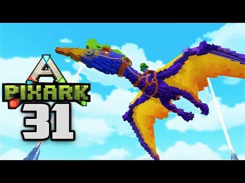 QUETZAL TAMING & BASE ENTRANCE! - Let's Play PixARK Gameplay Part 31 (PixARK Taming Pooping Evolved)