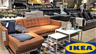 IKEA LIVING ROOM FURNITURE SOFAS COUCHES HOME DECOR - SHOP WITH ME SHOPPING STORE WALK THROUGH 4K