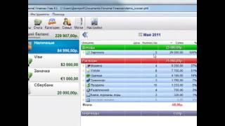 Программа учета доходов и расходов Personal Finances