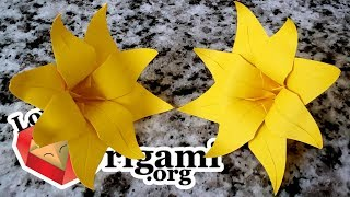 Origami Flower - How to Make an Origami Flower (Paper Folding Instructions)