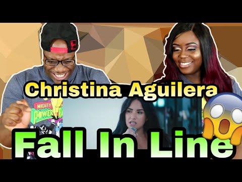 Christina Aguilera - Fall In Line ft. Demi Lovato | Couple Reacts