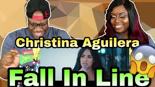 Christina Aguilera - Fall In Line ft. Demi Lovato | Couple Reacts Mp3
