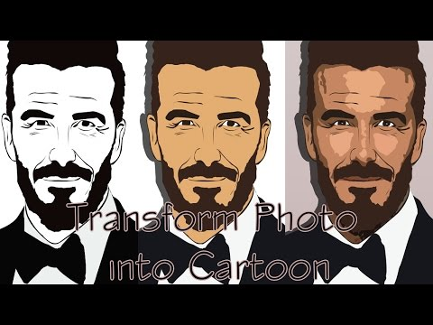 Adobe Photoshop CS6: Cartoon effect Tutorial 2016