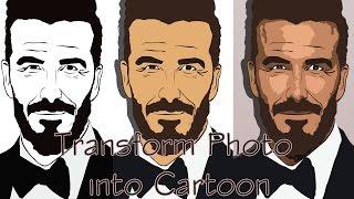 Adobe Photoshop CS6: Cartoon effect Tutorial 2016