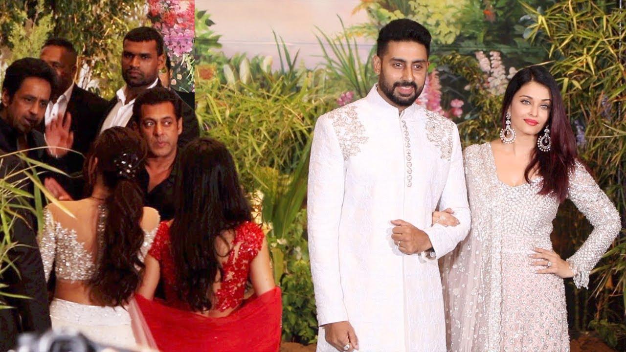 Iswarya Rai Wedding.Salman Khan Ignores Aishwarya Rai Bachchan At Sonam Kapoor Wedding Reception
