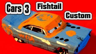Pixar Cars 3 Custom Fishtail Demolition Derby Crazy 8 Race Car with Primer Lightning McQueen Cars