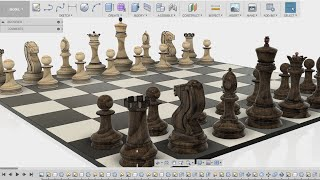 How to make a chess board - fusion 360 tutorial