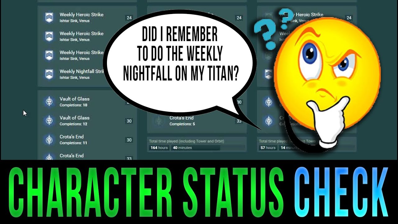 Destiny Character Status Check How To Check Strikeraid