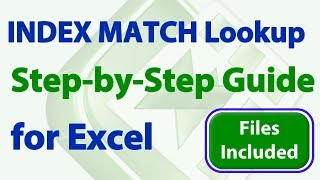 how to Use INDEX MATCH Lookups in Excel - Step by Step Guide