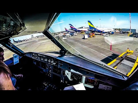 BEAUTIFUL Cockpit Takeoff from Moscow [UUEE] Airbus A320