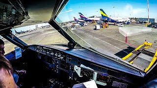 Airbus A320 Cockpit Takeoff from Moscow Sheremetyevo [UUEE]
