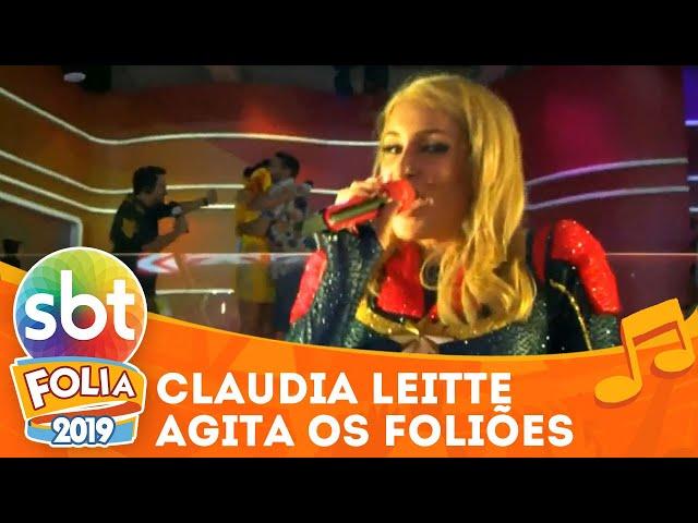 Claudia Leitte agita foliões com hit Saudade | SBT Folia 2019