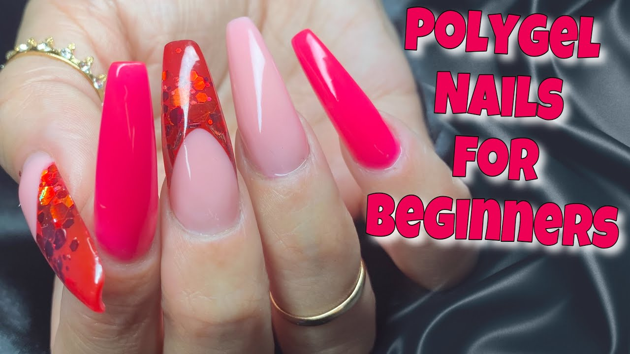 VALENTINE'S NAILS USING NEW POLYGEL KIT BY MAKARTT   HOW TO Reverse French Application Polygel Nails