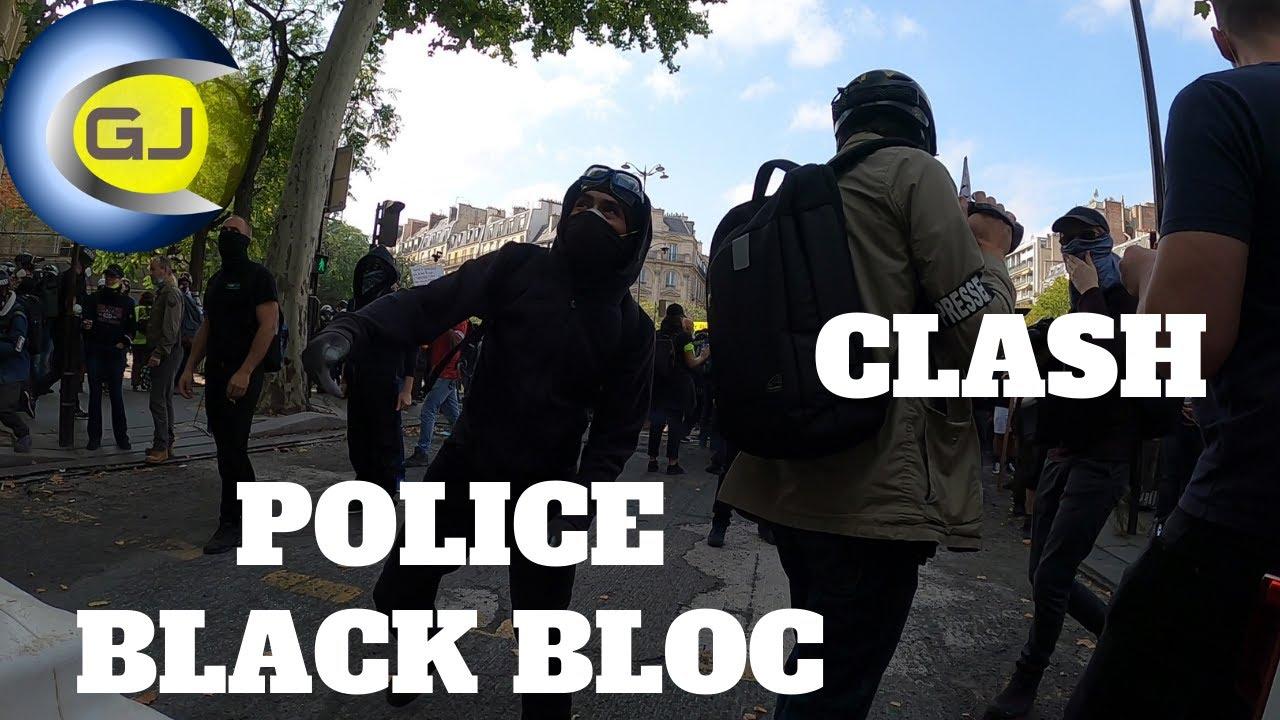 Black bloc police clashs affrontements échauffourées Résumé Inédit Paris manif gilets jaunes 12 sept