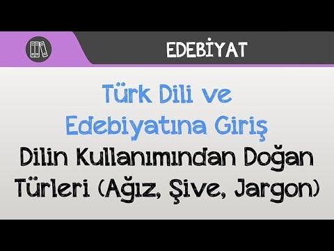 Türk Dili ve Edebiyatına Giriş - Dilin Kullanımından Doğan Türleri (Ağız, Şive, Jargon)