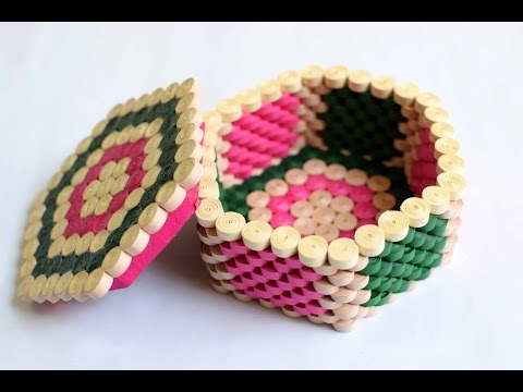 Quilled Hexagon Box/ Jewellery Box/ Hexagon Box