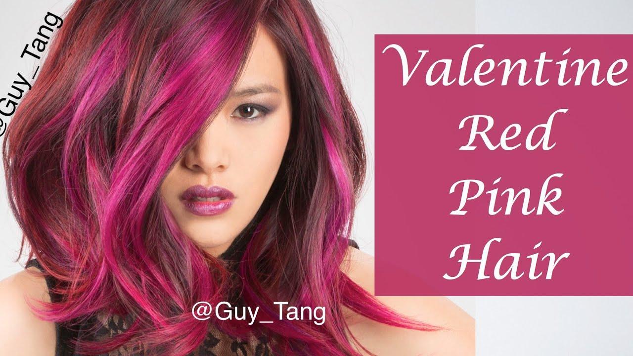 Valentine Red Pink Hair Youtube