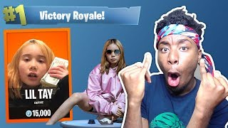 *NEW* LIL TAY CHALLENGE in Fortnite: Battle Royale! 9yr Old takes over Fortnite?!