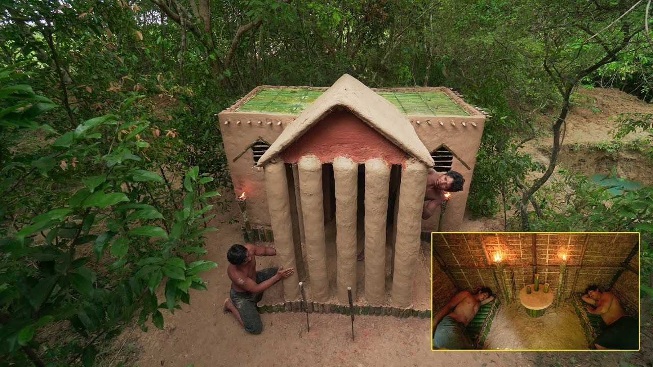 Building The Most Wilderness White House Villa In Deep Forest