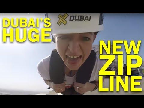 XLine zip line in Dubai Marina. Episode 1