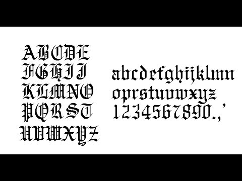 Gothic Calligraphy Step by Step //  Old English calligraphy.