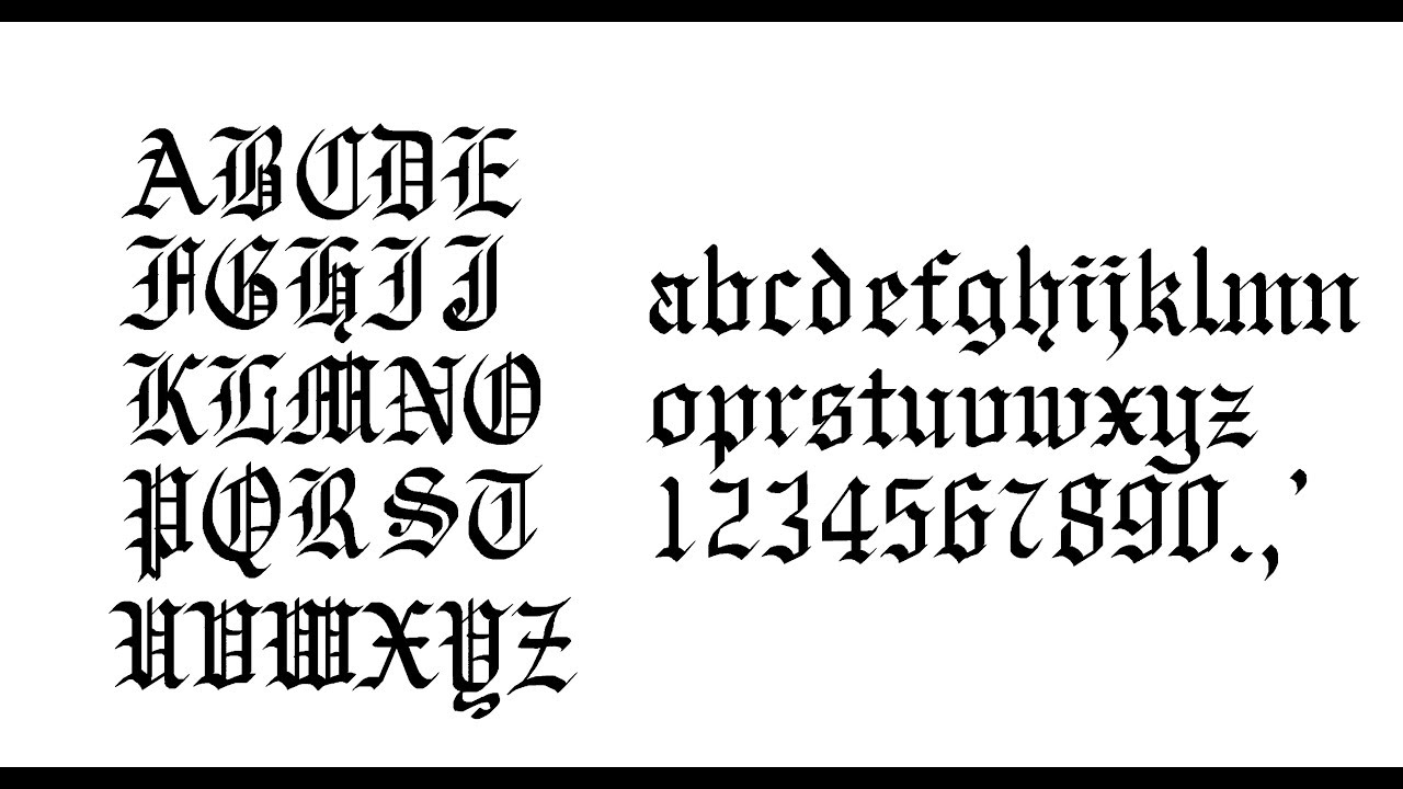 Gothic Calligraphy Step By Old English