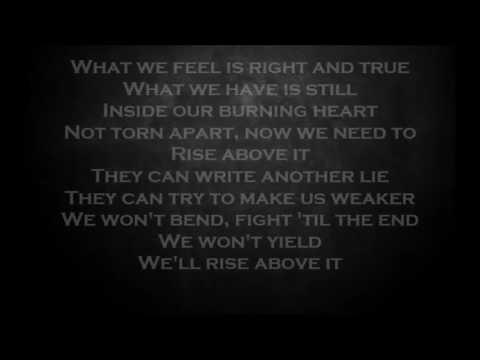 Rise Above It - STRATOVARIUS - Lyrics