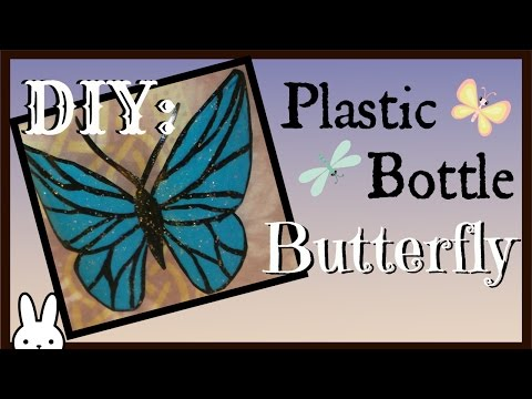 DIY: Plastic bottle butterfly decorations / easy fairy wing costume for dolls / tutorial