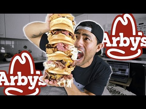 ARBY'S MEAT MOUNTAIN CHALLENGE X 5 | 5,100 CALORIES
