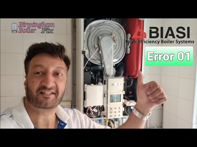 Biasi Error 01 Birmingham UK boiler fix how i diagnos the problem and change the part..