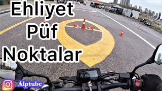 motorsiklet ehliyet direksiyon snav dikkat etmeniz gerekenler tavsiyeler