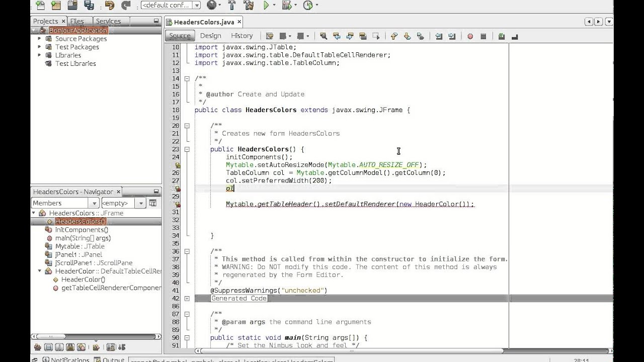Tuto : How to set column width in JTable | java programming on ...