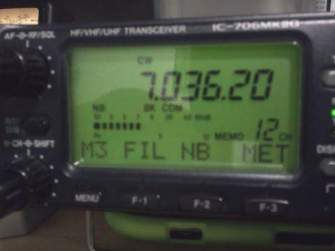 ICOM 706MKIIG CW-R & FL100 Filter