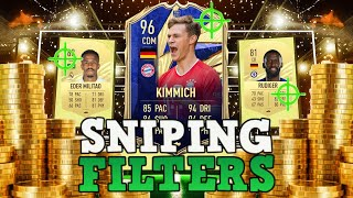 FIFA 21 INSANE SNIṖING FILTERS! HOW TO MAKE 500K RIGHT NOW ON FIFA 21! BEST PLAYERS TO SNIPE ON FIFA