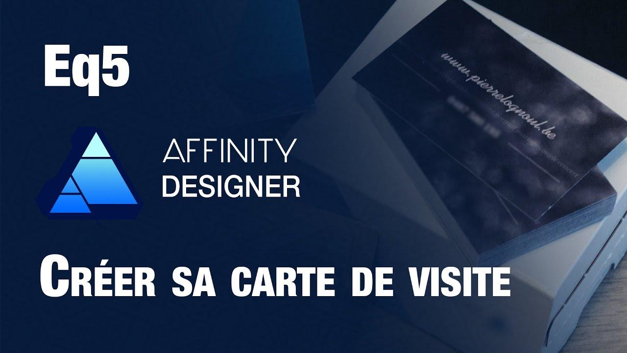 AFFINITY DESIGNER Creer Sa Carte De Visite