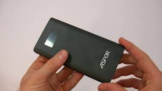 Power Bank Aspor In+Out in fast charging 10000mah