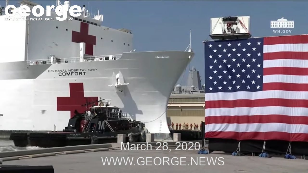 President Trump Delivers Remarks at Naval Station Norfolk Send Off for USNS Comfort, March 28, 2020