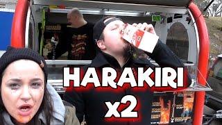 Harakiri Korven Försöker äta två stycken