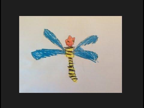 Wie Man Eine Libelle Malt Malvorlage Für Kindergarten Kinder Der Geschwistercontest