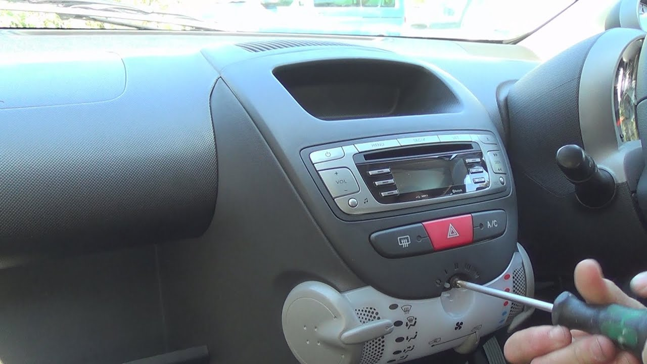 hight resolution of radio removal peugeot 107 2005 present justaudiotips
