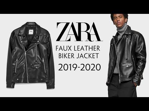 Zara - Áo Khoác Da Dáng Biker - Faux Leather Biker Jacket - Giá 1.150.000 VNĐ