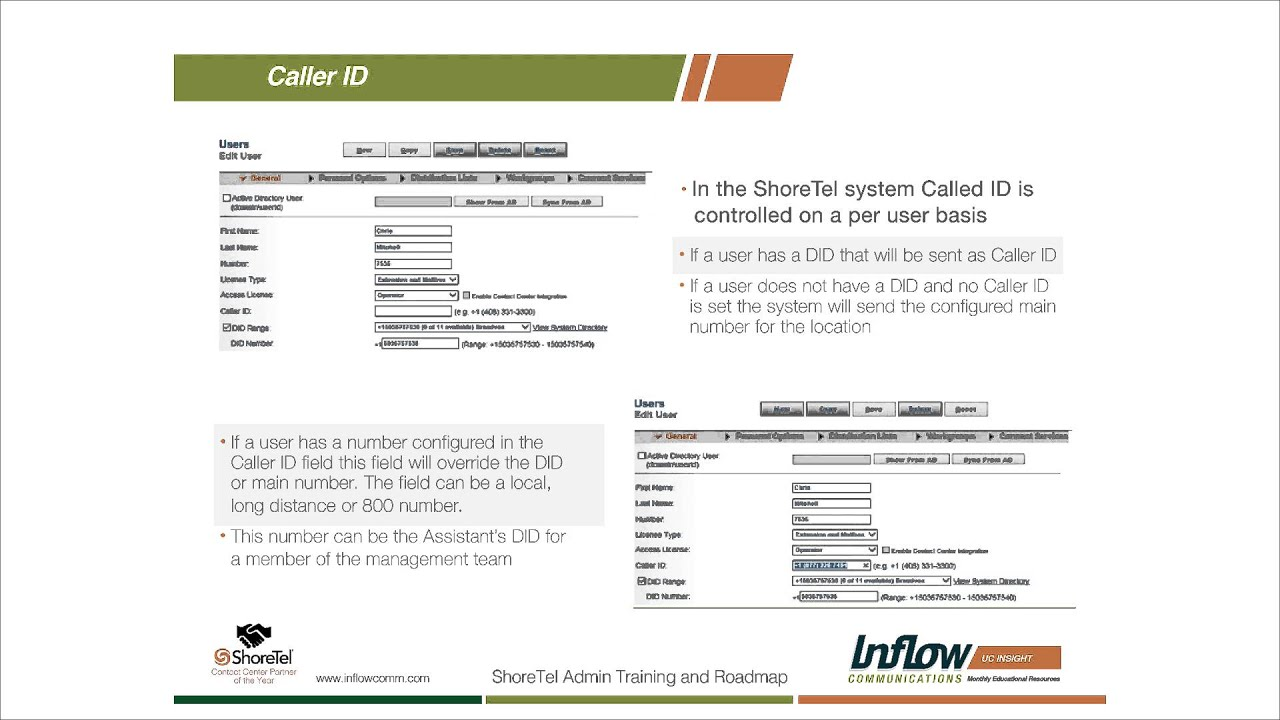 How To Set Up Shoretel Outbound Caller Id Block A Number On Verizon