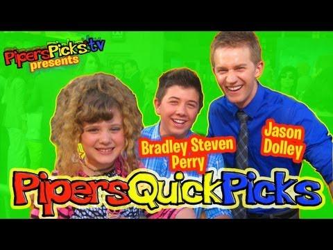 "BRADLEY STEVEN PERRY & JASON DOLLEY ""Good Luck Charlie"" Baby Talk & Joking At Disney BRAVE Premiere!"
