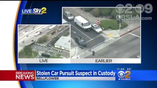 WATCH LIVE: Police Chase Driver In Stolen Car