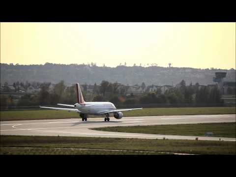 Stuttgart Airport - Taxi & Takeoff Germanwings Airbus A319