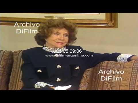 Amelia Bence con Pinky hablando de pelicula con Pedro Lopez Lagar 1993
