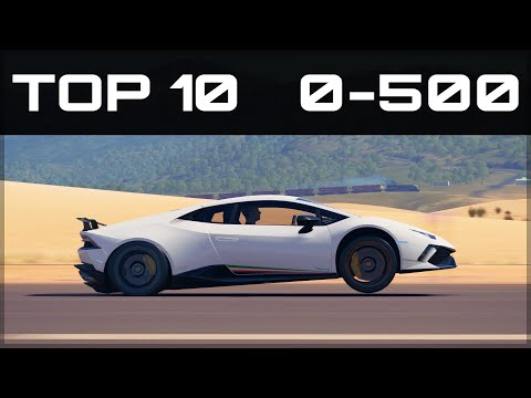 TOP 10 FASTEST 0-500 CARS   Forza Horizon 3   Insane Accelerations!!