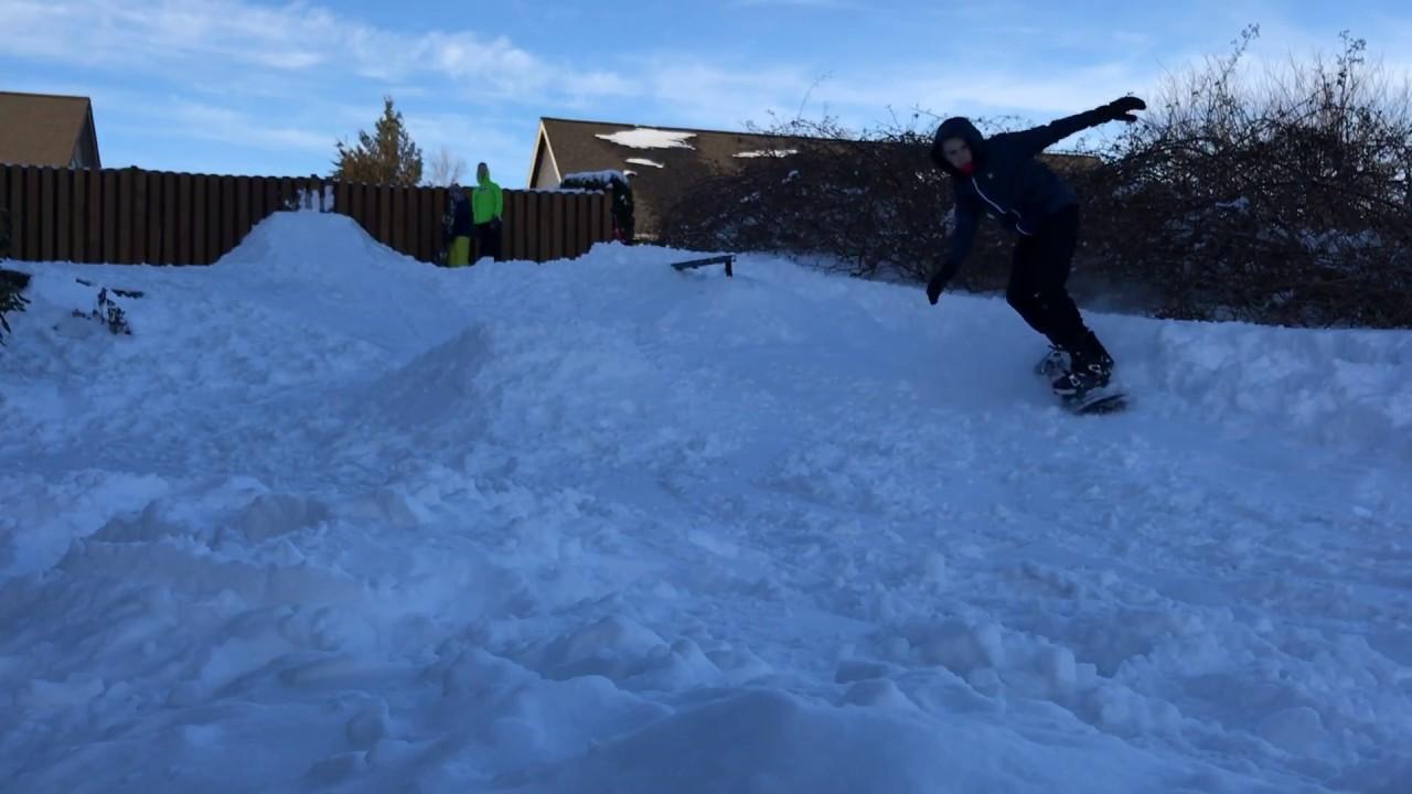 BACKYARD SNOWBOARDING PARK! - YouTube