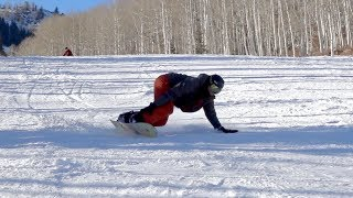 Learn Advance Snowboard Carving: Surfer Turns Grab Carves